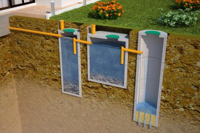 Достоинства септика из бетонных колец